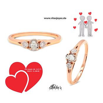 Anillo de compromiso, tres piedras diamantes