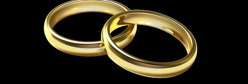 Anillos o bandas matrimoniales