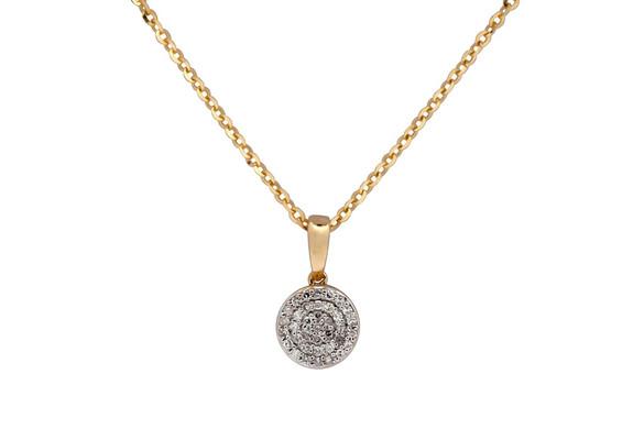 Dije  de diamantes en oro