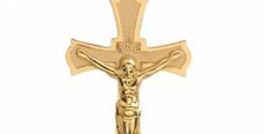 Crucifijo en oro amarillo 3 1/2 cm