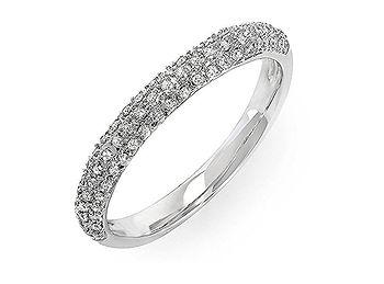 Banda matrimonial en diamantes pave COEITA