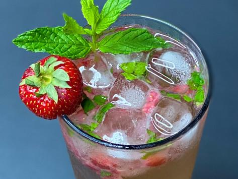 Strawberry Rosé Vinegar & Fresh Mint Mocktail