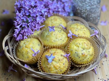 Lilac Lemon Chia Seed Muffins 🍋💜