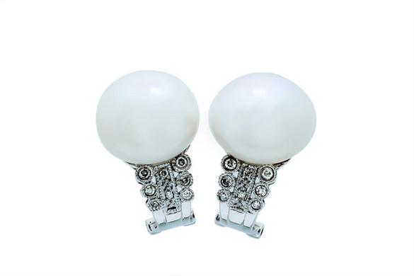Aretes de perlas