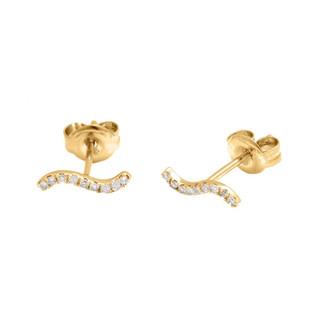 Aretes o zarcillos en oro y diamantes