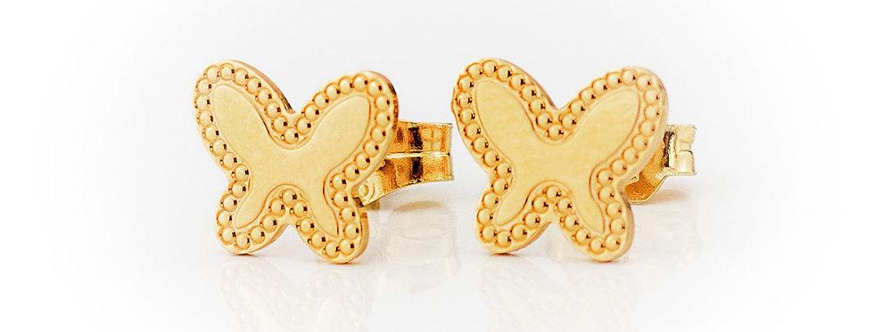 Aretes estilo mariposa