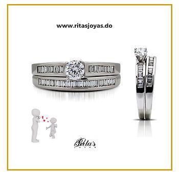 Set de anillos matrimoniales
