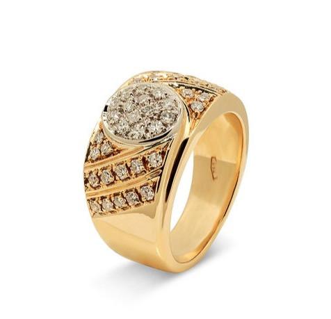 Anillo en oro 18 con diamantes