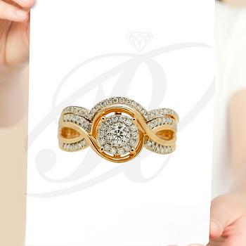 Set de anillos de compromiso 7115