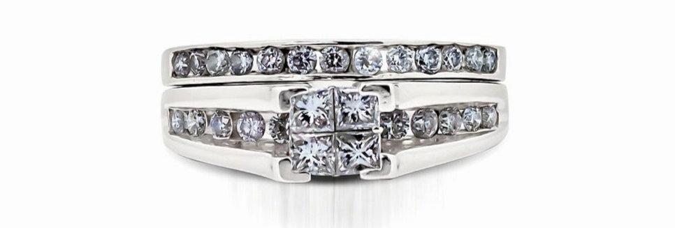 Set de anillos de compromiso y bodas.