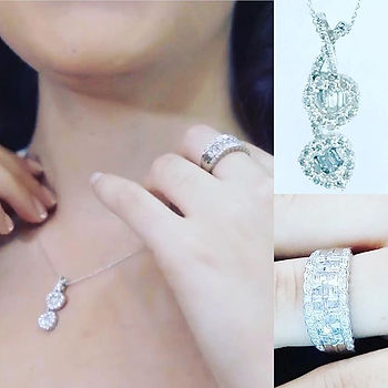 Joyas en oro blanco con diamantes