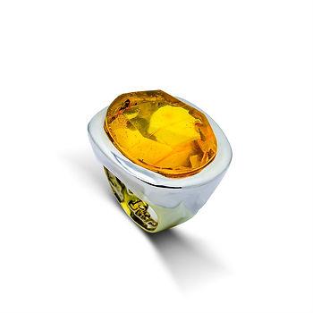 Anillo Petra, en ambar amarillo
