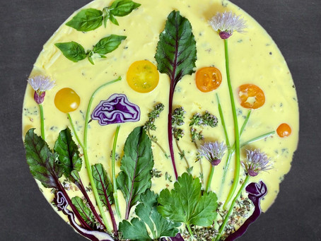 Gardenscape Quiche: Beautiful Edible Art