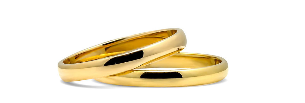 Bandas o aros matrimonial en oro  BBOITA