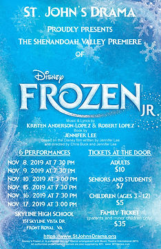 St. John's Drama Presents FROZEN Jr.