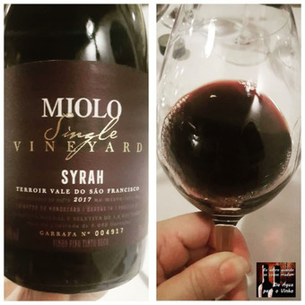MIOLO SINGLE VINEYARD SYRAH 2017 (Brasil)