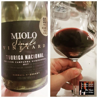MIOLO SINGLE VINEYARD TOURIGA NACIONAL 2017 (Brasil)