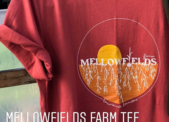 Mellowfields T-shirts - Rust Red