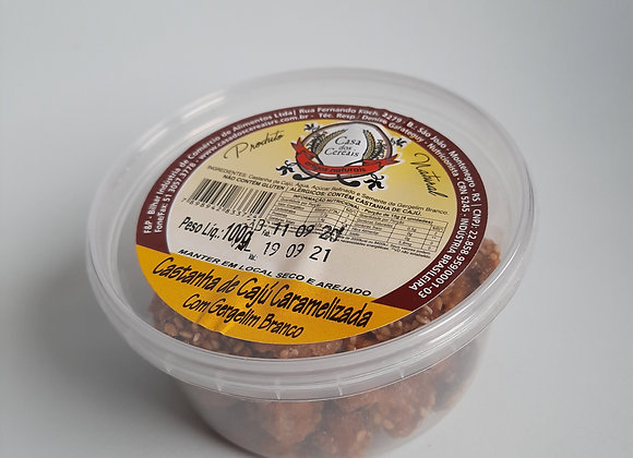 Castanha de Caju Caramelizada com Gergelim (100g)