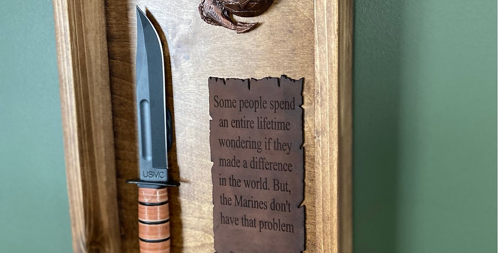 Marine Knife Shadow Box