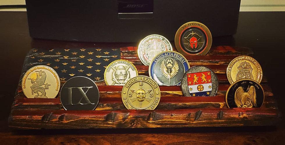 Desk coin rack