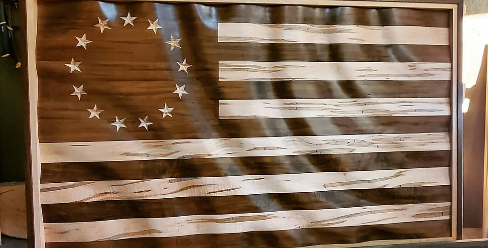 Betsy Ross wave flag.
