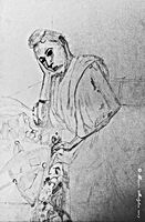 Peinture inspirée de Cézanne réalisée par Xavier Malghem.
