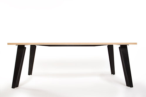 Hickory and Corten Steel Table