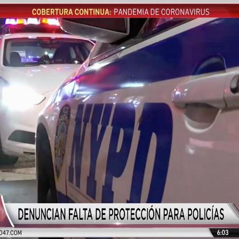 Oficiales del NYPD desprotegidos ante COVID 19