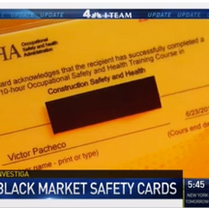 Black Market Sales of Fake Safety Cards