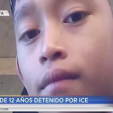 Niño de 12 años detenido por ICE