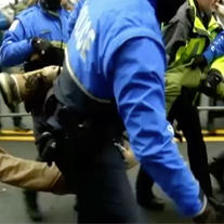 Protestas durante toma de posesión