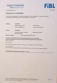 Økologisk gødning godkendt af det tyske FIBL