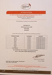 Økologisk gødning med Ecocert certificering