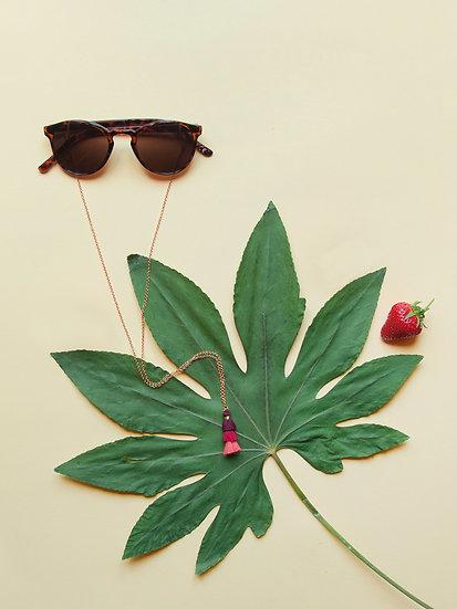 3fach Quaste Brillenband