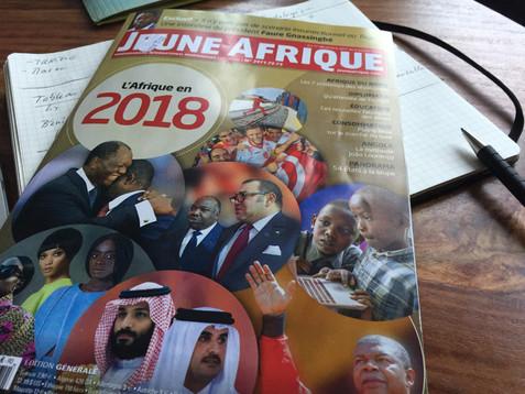 """Contribution à """"L'Afrique en 2018"""", numéro de fin d'année de Jeune Afrique"""