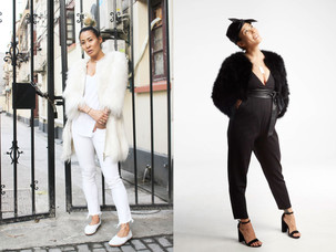 Angel vs. Devil | How to Style a Fur Coat
