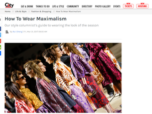 How To Wear Maximalism