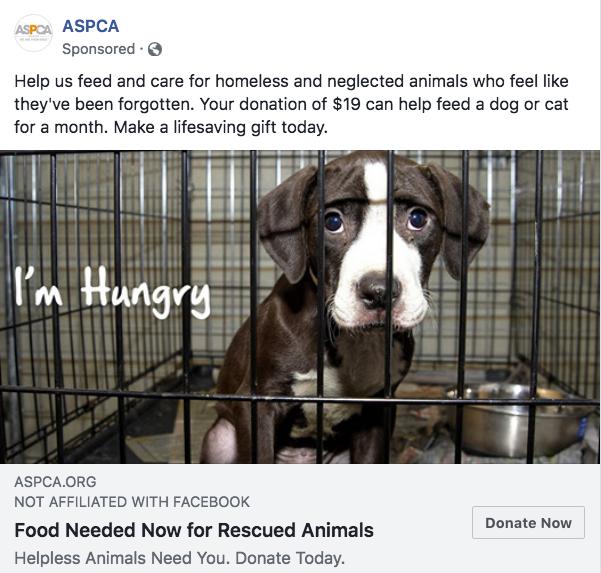 ASPCA Facebook ad