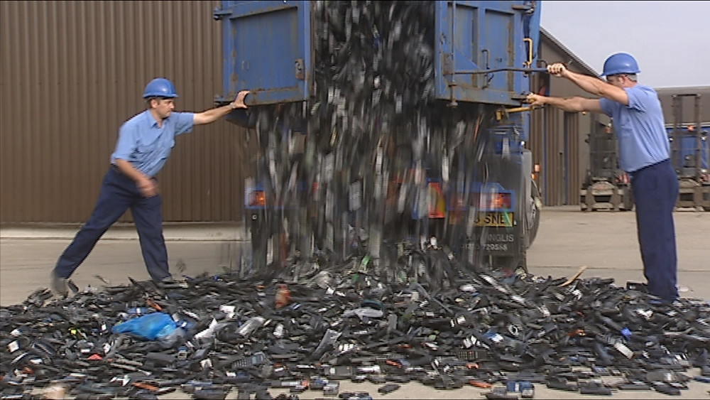 A truck load of cell phones