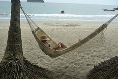 Hammock on the beach in Costa Rica