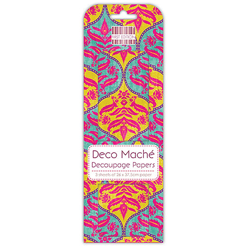 First Edition Deco Mache - Indian Damask