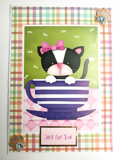 Cute Cat Just For You Card