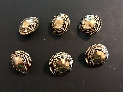 Gold domed buttons