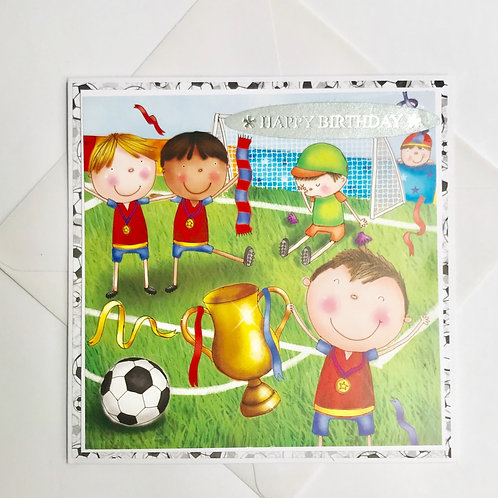 Football Cup Birthday Card
