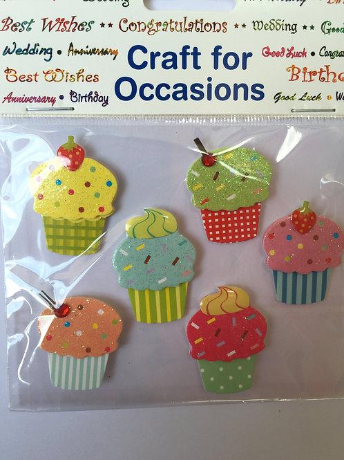 Colourful Cupcake Embellishments