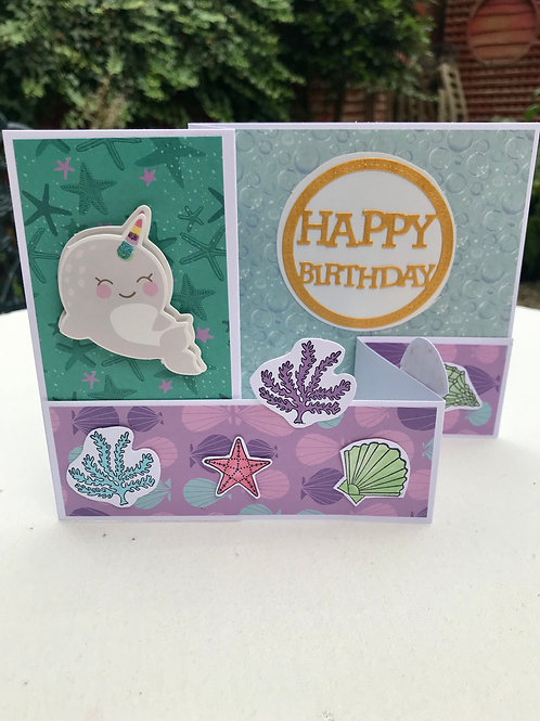 Cute Narwhal Card