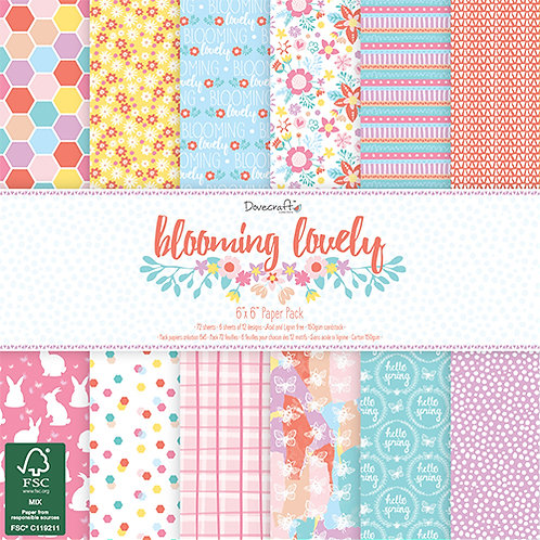 Dovecraft Blooming Lovely 6 x 6 paper pad