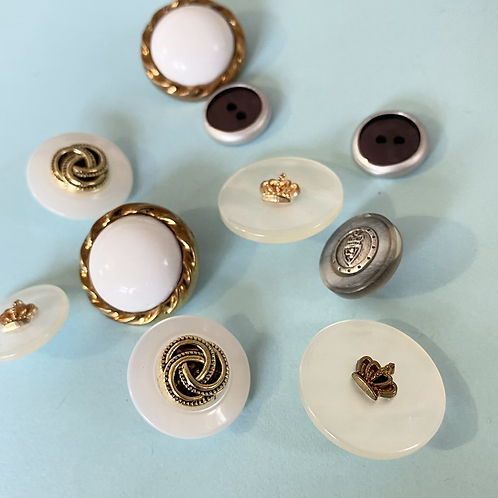 Assorted Vintage Style Metallic Buttons