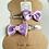 Thumbnail: Purple Ribbon Hair Clips